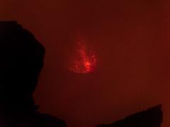 Lava Burst (Magic Pea) Tags: ethiopia travel photo photography magicpea africa eastafrica volcano ertaale spitting lava lake lavalake caldera crater livevolcano