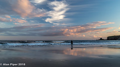 Sea fishing at dusk (PapaPiper) Tags: bunmahon countywaterford ireland fishing seascape sunset dusk aggling seafishing reflections clouds skyline sky eveningsky eveninglight beach strand greatphotographers