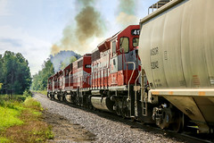 Decreasing Tractive Effort with speed (sdl39hogger) Tags: wsor watco wisconsinsouthern milwaukeesub emd electromotivedivision sd402 horicon wisconsin canon canont6i