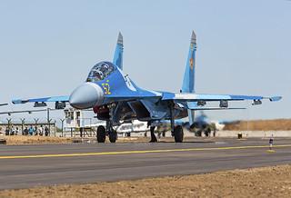 52, Sukhoi Su-27UB Kazakhstan Air Force @ Astana TSE UACC