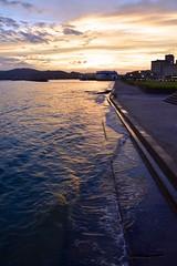 (chikache) Tags: japan aichi gamagori sea mar sky magicmoments wave water reflection colors nikon d5300