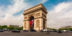 Triumphal Arch - Arc de Triomphe (andrebatz) Tags: arc de triomphe triumphal arch paris france monument sight travel wanderlust wars champs elysee arco do triunfo viagem urban landscape wide angle lens sigma nikon d7100 816 mm 8 16 panoramic sunset outdoor