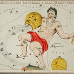 Sidney Hall's (1831) astronomical chart illustration of the zodiacs Aquaris, Piscis Australis and Ballon Aerostatique. Original from Library of Congress. Digitally enhanced by rawpixel. thumbnail
