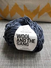 Recycled Blue Jean Yarn! (tiny red warrior) Tags: yarn knitting ecofriendly ecofashion crafty wool