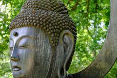Enlightenment (hoobgoobliin) Tags: keithlemon buddha standard enlightenment metal batsford arboretum gloustershire cotswolds statue buddhism robcharles fujifilm xf1855