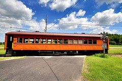 Rural Crossings (Laurence's Pictures) Tags: east troy electric railroad museum wisconsin train trolley interuban milwaukee light we energy railfan days chicago south shore bend csssb