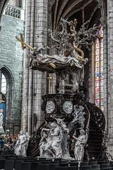púlpito 3 Gante_Bélgica (jmsoguero) Tags: púlpito gante gant bélgica belgium iglesia madera escultura religión