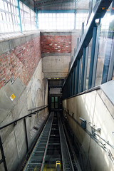 Greenford Funicular (London Less Travelled) Tags: uk unitedkingdom england london greenford tube underground station lift elevator funicular sloping transport publictransport