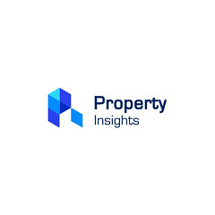 Logo-Propertyinsights-Flicker (creoeuvre) Tags: creoeuvre logo icon studio brand minimal hexagon blue grid p pi letter formal typography