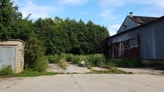 Le silo, ses herbes et ses sacs poubelles