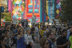 """Thurman Blevins """"Please don't shoot me!"""" March (Fibonacci Blue) Tags: minneapolis twincities minnesota protest march demonstration event dissent activism outcry activist outrage blm crowd people mural police shooting"""