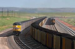 Crossing Logan Hill (Moffat Road) Tags: unionpacific up coaltrain unittrain orinline powderriverbasin locomotive bill logan loganhill wyoming ge dpu 5689 es44ac wy
