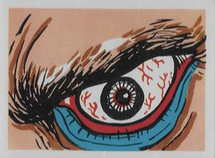 Spook Theatre Sticker ( Leaf 1961 ) (Donald Deveau) Tags: leaf tradingcards sticker eye horror monster spooktheatre spookstories