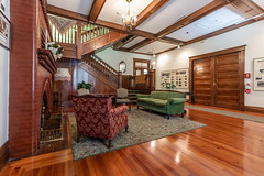 Thomas Center Sitting Room (hetrickwesley) Tags: 80d architecture canon florida gdp gainesville historic history thethomascenter thomascenter sittingroom antique woodwork staircase fireplace vintage