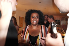 Unimpressed again (Gary Kinsman) Tags: fujix100t fujifilmx100t london clapton hackney e5 party houseparty flash candid unposed bbq 2018 people person unimpressed disgust wtf