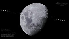 The International Space Station transits across the Waxing Gibbous Moon over North Ipswich, Queensland, Australia in the early evening of 23 June 2018. (ePixel Images) Tags: space iss lunar moon ipswich queensland australia expedition mission astronaut cosmonaut nasa jaxa roscosmos esa exploration universe cosmology internationalspacestation