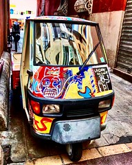 """""""APE 50"""" (giannipaoloziliani) Tags: strange hdr flickr 1969 piaggio france narrowstreets streetart art paint painting nizza nice alleys capture capturestreets iphonephotography iphone streetphotography colors ape50"""