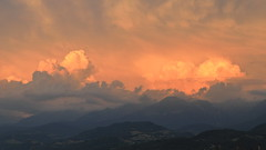 Clouds on fire (yom1) Tags: nuages nuage clouds cloud cloudy sunset dusk soir evening orage cumulonimbus montagne montagnes mountain mountains evenong coucherdesoleil meteo weather europe france rhonealpes auvergnerhonealpes isere grenoble belledonne été light lumière texture paint colours colors couleurs farben rouge rose orange 169 yom1 eos6dmkii 6dmkii 6dmarkii ef2470 canonn canon paysage landscape sky ciel
