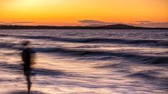 Mystery figure on the beach (Chas56) Tags: noosaheads queensland australia canon canon5dmkiii ngc blur movement waves