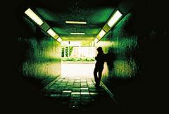 Lomo – shelter (lomomowlem) Tags: 35mm analogue crossprocess colourstreambrighton dark expiredfilm green kodakelitechrome lomo lomography lofi lca tunnel urban xpro xprocess shadows silhouette