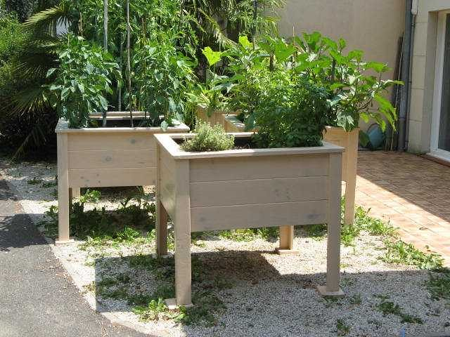 Création de jardinières à la MARPA