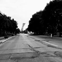 Pas grand monde dans la rue à cette heure-là... (woltarise) Tags: streetwise tour stadeolympique jo montréal rosemont quartier rachelest rue 6h10am matin iphone7