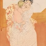 Maternal Caress illustration by Mary Cassatt (1844-1926). Original from Library of Congress. Digitally enhanced by rawpixel. thumbnail