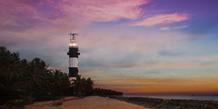 Lighthouse at Ponnani (KV Gopalakrishnan) Tags: ambliparamb india kerala ponnani sky waterelements beach clouds evening eveningsky landscapephotography ocean sea sunset ~land