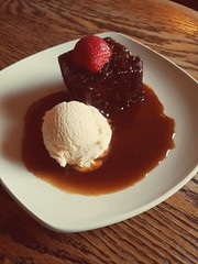 Sticky Toffee Pudding (Herb287) Tags: stickytoffeepudding comrie theroyal food icecream toffee pudding unlimitedphotos theamateursgroup scotland strawberry desert sponge stilllife plate