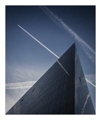 Rise (markrd5) Tags: liverpool reflections contrails planes latitudebuildingmannisland