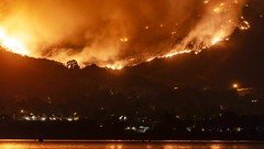 Holy Fire Rages In the Mountains Near Lake Elsinore timelapse 20180809 (slworking2) Tags: lakeelsinore holyfire california timelapse wildfire arson cdf calfire weather