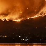 Holy Fire Rages In the Mountains Near Lake Elsinore Timelapse thumbnail