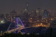 Smoky Nights, Edmonton (WherezJeff) Tags: 2018 edm night summer walterdalebridge smoke edmonton alberta canada d850 bridge