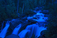 Night Hike to Waterfall (Heather Cormons) Tags: night water waterfall river watercourse wyoming nature outdoors blue d610 sinks canyon state park lander