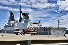 HMS Diamond - Aberdeen Harbour Scotland - 11/8/18 (DanoAberdeen) Tags: daf dafxf aberdeen williamnicol truck truckers truckfest transport haulage danoaberdeen winter wasser weather ecosse escocia escotia engineering riverdee river tug tugboat torry nikond750 navigation navy hmsdiamond d34 missile guidedmissile seafarers sailors britishnavy surfacefleet torpedo war radar surveilance airdefence gunship protectors heroes warfare harpoon 2018 candid amateur psv scotland grampian ship boat vessel bluesky metal northsea northeast footdee fittie workboats sailor maritime pocraquay water offshore geotagged aberdeenscotland scottish seashore coastline oil oilships oilindustry danophotography