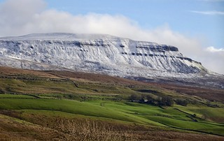 Pen-y-ghent. Winter in Yorkshire Dales National Park.