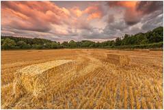 Bale Of Time (Steven Peachey) Tags: landscape sunset canon harvest farmland canon5dmarkiv ef1740mmf4l stevenpeachey leefilters lee09gnd