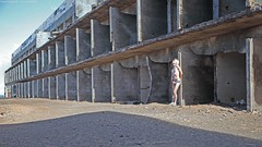 Ruin (ManFromKassel) Tags: mann man sexy ruin ruine abandoned verlassen otshorts hotpant hotpants jeans denim shorts short shortshorts halsband collar piercings piercing outdoor