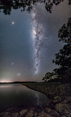Another dam fine view (nightscapades) Tags: astronomy astrophotography autopanopro bamarangdam dam galacticcore jupiter mars milkyway night nightscapes nowra panorama panos saturn shoalhaven sky southcoastnsw stars stitch bamarang newsouthwales australia