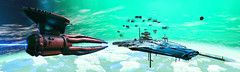 (D U B L) Tags: nms nomanssky scifi hello games video no mans sky havoc space panorama game pc computer graphics outdoor dof photomode gaming photography nvidia gpu 15 next landscape ship craft sclass 19 slot exotic frieghter frigates fleet macro blur aclass squid