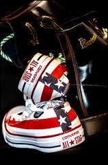 Dr Martens and All Stars Converse. (CWhatPhotos) Tags: cwhatphotos camera photographs photograph pics pictures pic picture image images foto fotos photography artistic that have which contain converse all stars chucks stripes starsandstripes shoes boots usa amereican america product foot wear dm docs versus dr marten congress 7 hole dms martens doc
