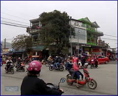 Vietnam, Hue City Traffic 20180213_092120 DSCN3159 (CanadaGood) Tags: asia asean seasia vietnam vietnamese hue building tree motorcycle traffic people person canadagood 2018 thisdecade color colour