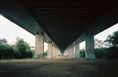 Under the M5, Avonmouth (knautia) Tags: underthem5 avonmouth bristol england uk august 2018 ishootfilm olympus xa2 olympusxa2 nxa2roll54 heatwave m5 motorway motorwaybridge 160iso kodak portra