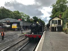 Bodmin General (Flikrman Gaz) Tags: class47 bodmin signalbox steam loco steamloco