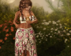 Spring is my favourite season (Chelsea Chaplynski ( Amity77 inworld)) Tags: glitzz skirt top set fiorella event tres truth chic hair secondlife flowers sl kittens chelsea