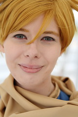 Isaac from Golden Sun - Close Up (NekoJoe) Tags: amecon amecon2018 ame ame2018 animeconvention closeup convention cosplay cosplayer coventry england gb gbr geo:lat=5237901147 geo:lon=156167865 geotagged goldensun isaac midlands uk unitedkingdom warwickartscentre
