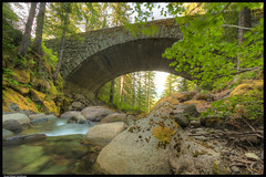 Bridge Cougar Creek (ScottElliottSmithson) Tags: nationalparks mtrainiernationalpark mtrainier mountrainiernationalpark mountrainier washingtonstate cascademountains cascades cascaderange mountain mountains usnationalparks pacificnorthwest northwest nature scenery canon eos 7d eos7d photomatix scottelliottsmithson scottsmithson smithson dtwpuck bridge river creek