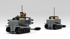 M50 Ontoaster (John Moffatt) Tags: lego digital designer toaster ontos m50 recoilles rifle shiny chrome tank destroyer tracks toast