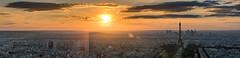 Paris Panorama (andreasmally) Tags: panorama paris france frankreich sunset eiffeltower eiffelturm