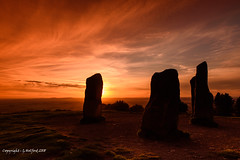 Sunset over Worcestershire (Holfo) Tags: autumn clenthills worcestershire standingstones nikon d750 clent nationaltrust sunset sky old ancient midlands uk britain england greatbritain heritage warm glows highlights subtle